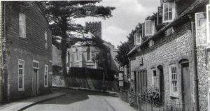 River Mill workers cottages Minnis Lane where William and Sarah lived. The cottages were demolished 1957. John Roy