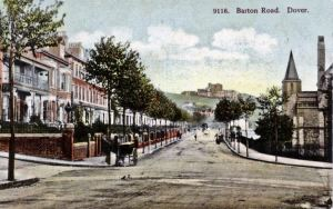 Barton Road c1901 with St Barnabas Church on right. Fr C Johnson