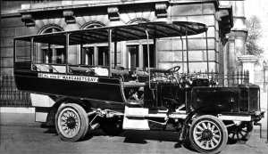 East Kent Omnibus Company Pioneer used for the Dover - St Margaret's - Deal service c1910. Dover Museum