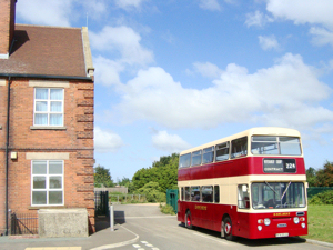 Daimler Fleetline Park Royal by former Betteshanger Colliery offices now owned by Phil Drake & Dave Ferguson August 2010. Phil Drake