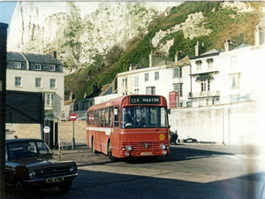 East Kent Bus Company 1971 AEC Swift 51-seater with Alexander body, 301 Athol Terrace - Maxton service. Dover Museum
