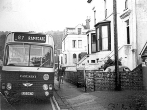 East Kent Bus Company number 87 Dover-Ramsgate service 51seater AEC Swift 69 with Alexander body 1971. Dover Museum