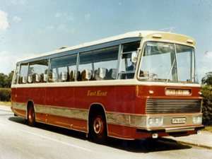East Kent Bus Company 40-seater AEC Reliance 691 with Duple Bodywork on the Scotland Tour 1970. Dover Museum