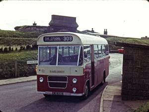 EKRCC Bedford 1967 VAS with Marshall 29 seat body. Service 135 then 309 to the Citadel, Western Heights. Richard Wallace.