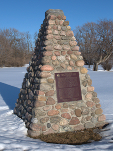 Cairn at Richmond, Ontario, Canada, marking the approximate location where the 4th Duke of Richmond died. Wikimedia-Commons