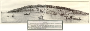 Naval Establishment at Penetanguishene, Canada 1818. Simcoe County Archives