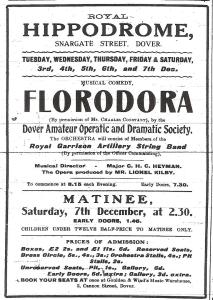 DODS Florodoro performed December 1912 at the Hippodrome Snargate Street. Dover Times 21 November 1912.