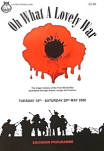 DODS production of Oh What a Lovely War in 2006. George & Julie Ruck