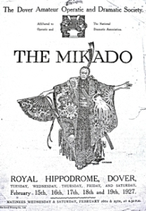 DODS production of The Mikado at the Hippodrome, Snargate Street 1927. George & Julie Ruck