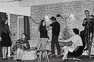 Dour Drama Group 1975 production of Peacocks Must Go. Peter Austen
