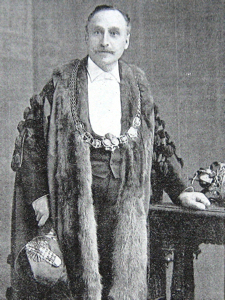 Walter L Emden Mayor of Dover 1907-1909, builder of theatres and ensured the success of the 1908 Dover Pageant by including all the local thespians who wished to take part.