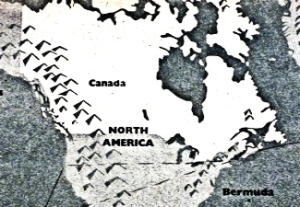 Canada schematic map