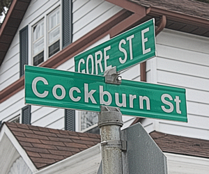 Street named after Francis Cockburn in modern Perth. Barrie Crampton