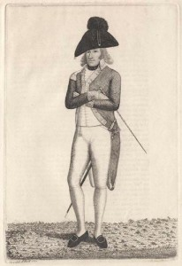 Charles Lennox 4th Duke of Richmond, engraving by John Kay print,1789. Wikimedia-Commons