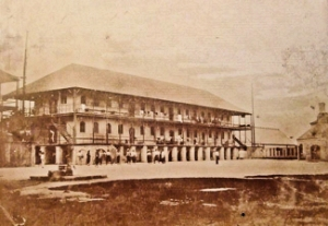 West India Regiment Barracks Nassau started in 1852. Rumelier collection OldBahamas.com
