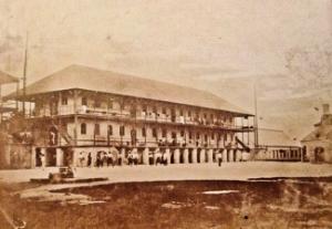 West India Regiment Barracks Nassau started in 1852. Rumelier collection OldBahamas.com
