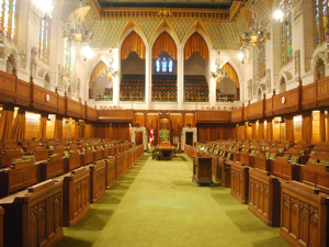 Hall of the House of Commons, of the Canadian Parliament, in Ottawa. Wiki Loves Monuments 2013