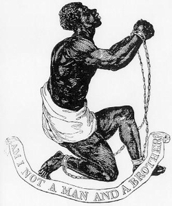 Official medallion of the British Anti-Slavery Society 1795 designed by Josiah Wedgwood in 1787. Wikimedia-Commons