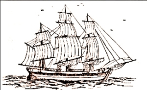 Schooner (Chilean) the Goleta Colo-Colo by an unknown artist 1836, a typical schooner of that period. Wikimedia - Commons