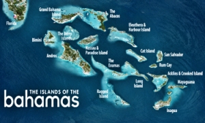 The main islands that make up the Bahamas. Bahamas Ministry of Tourism
