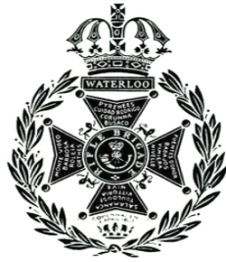 Rifle Brigade Badge. Major R D Cassidy