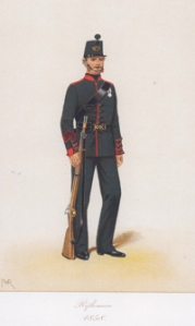 Rifleman 1858. Royal Green Jackets (The Rifles) Museum