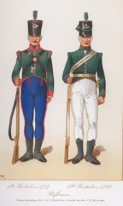 Riflemen 5th Battlion 1797 6th Battalion 1799. Royal Green Jackets (The Rifles) Museum