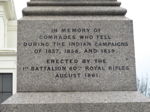 Rifles Monument Inscription on the North Face. Alan Lee