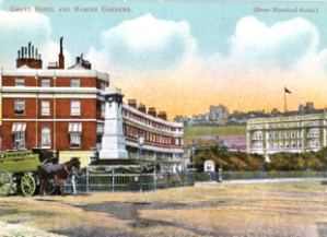 Rifle's Monument, Camden Crescent, Grand Hotel and Marine later Granville Gardens. Dover Museum