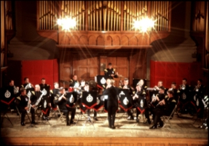 Royal Green Jackets regimental band in concert in Connaught Hall pre 2006 Dover Museum