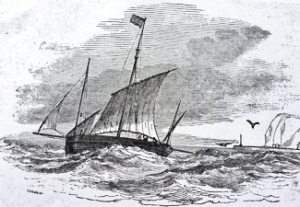 Republican, the French packet boat previously a gun boat c1872. Dover Library