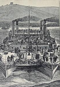 Castalia twin hull steamer c1875. Dover Library