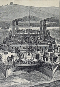 Castalia twin hull steamer c1875. Dover Library
