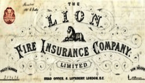 Lion Fire Insurance logo 1885 by Rosa Bonheur (1822-1899) Aviva Group Archive