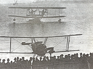 Seaplanes arriving in Dover Harbour 1914. Bob Hollingsbee collection