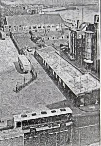 Territorial Army site on the old Seaplane site, some years before demolition in the summer of 1981. Dover Express.