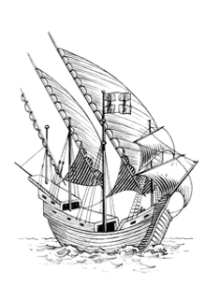Caravel from the archives of Pearson Scott Foresman, donated to the Wikimedia Foundation
