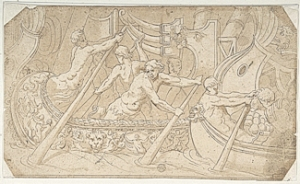 Roman Galley drawn 16th centuary Metropolian Museum of Art. Wikimedia