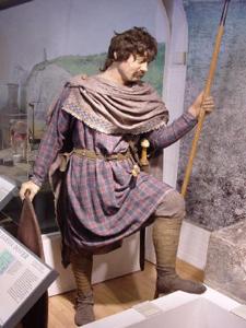 Saxon model in Dover Museum. LS