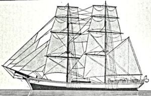 Typical 18th early 19th century brig. Frank E Dodman
