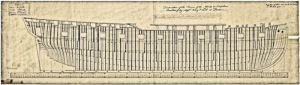 Design plan of the Dover built fireships by the King and Ladd yard between 1779 & 1784