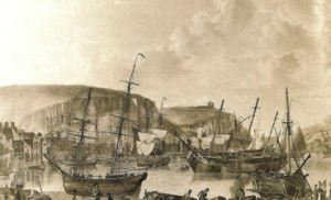 Dover Harbour 1793 by R Dodd. LS