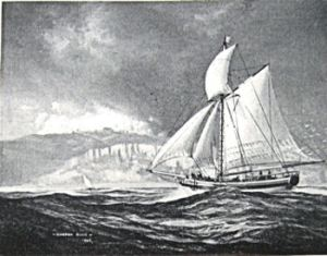 The 70 ton sailing ship George I owned by the Fector's and hired by the Post Office as a supplementary packet ship