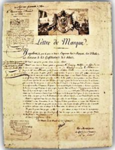 Letter of Marque (French) of 1809 Wikimedia