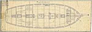Plan of the Upper deck of the Sprightly class of ships 1778. Wikimedia