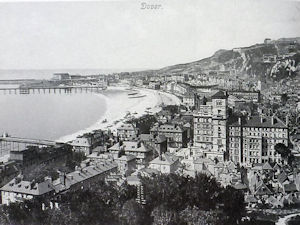 Aerial View of Dover c1910, at the height of the town's affluence and as a tourist holiday resort. Bob Hollingsbee Collection