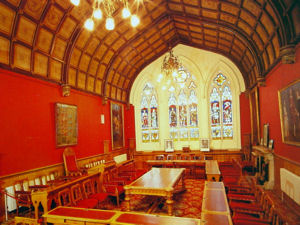 Council Chamber in the Maison Dieu, the former Town Hall, designed by William Burgess in 1867. Dover Museum