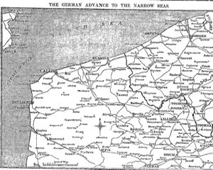 German advance to the Channel 18 October 1914. Times