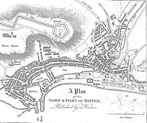 Map of Dover published by Z Warren in 1830. LS