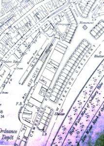 Map of Wellington Dock c1930 showing Slipway and Slip Quay. LS